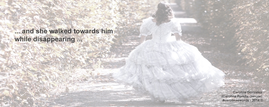 Female wearing a gown, is running away.