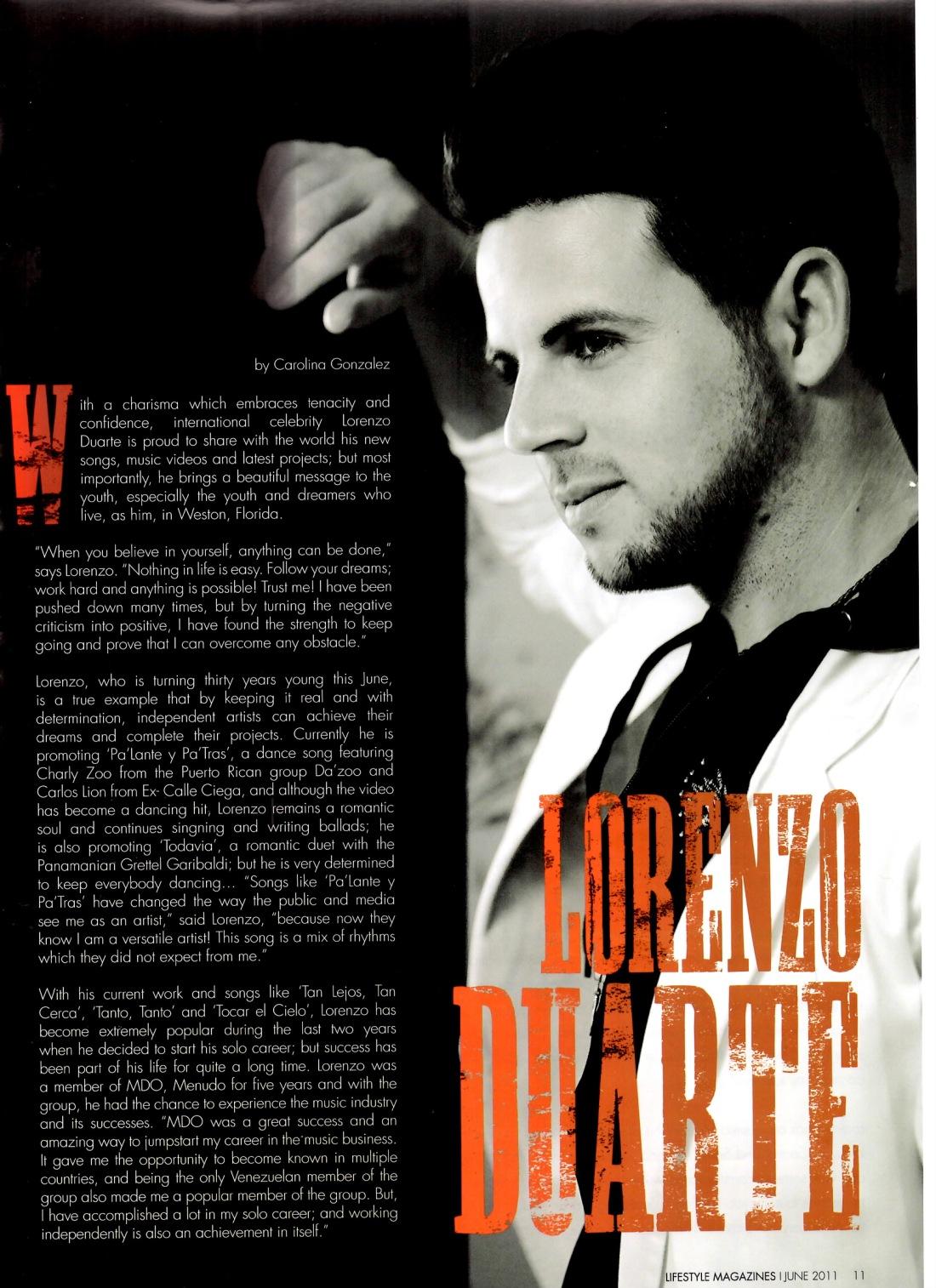 Lorenzo Duarte by Writer Carolina Gonzalez - CarolinasWords (Carolina Portilla Garces)