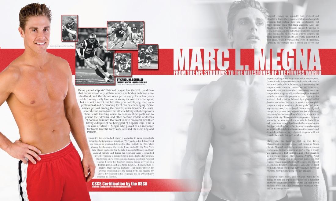 Marc Megna NFL and Fitness Entrepreneur Article by Writer Carolina Gonzalez - CarolinasWords