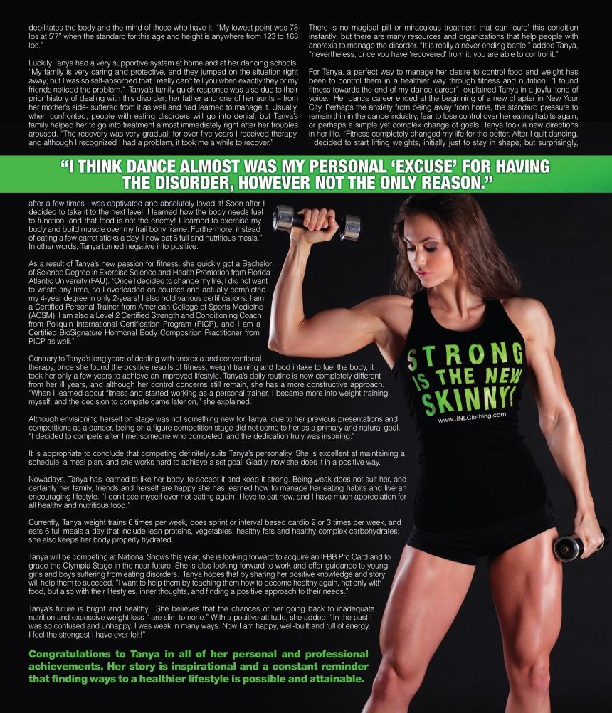 Tanya Etessam. An Athlete Through Thin and Thick. Battling Anorexia. By Carolina Gonzalez - CarolinasWords (Carolina Portilla Garces)